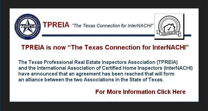 "TPREIA is now ""The Texas connection for InterNACHI"